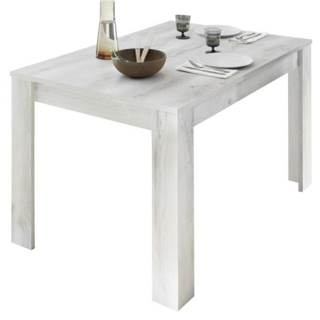 Eettafel Urbino 180 cm breed in grenen wit