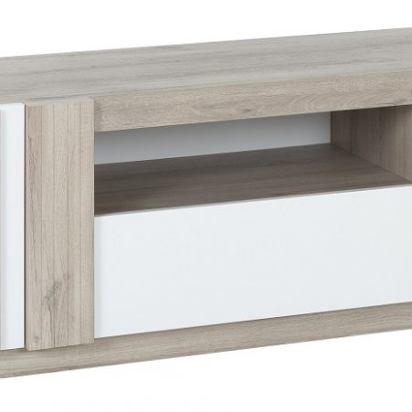 Tv-meubel Aston 180 cm breed in kronberg eiken met wit