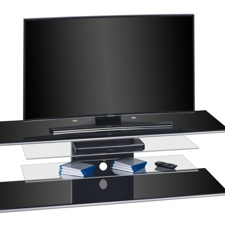 Tv-meubel Diamond 140 cm breed – Zwart