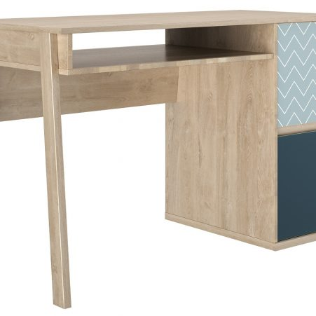 Bureau Larvik 120 cm breed in eiken