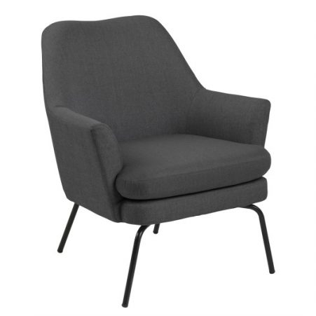 Fauteuil Sisi donkergrijs